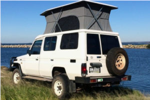 Toyota Landcruiser poptop - Allseasons Campervans