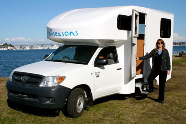Toyota Hilux motorhome conversion by Allseasons Campervans