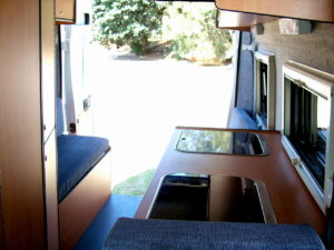 Inside Fiat conversion by Allseasons Campervans