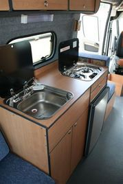 Ford conversion kitchen by Allseasons Campervans