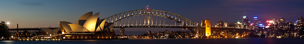 Sydney harbour night