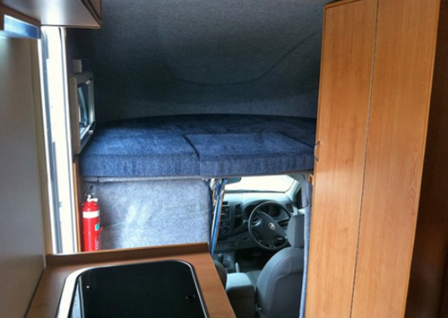 Inside the Hilux conversion by Allseasons Campervans