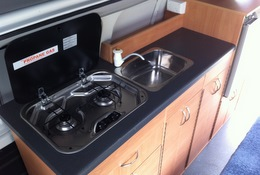 Hyundai iLoad Poptop kitchen by Allseasons Campervans