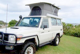 Landcruiser pop top by Allseasons Campervans