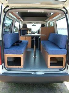 Hiace inside by Allseasons Campervans