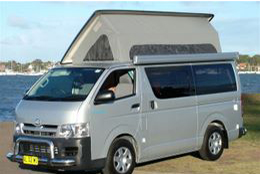 Toyota Hiace pop top by Allseasons Campervans